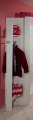 Dětská skříň Cinderella - Šatník (bílá, růžová)