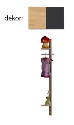 Dětská skříň Elisa 364882 (dub/lávová)