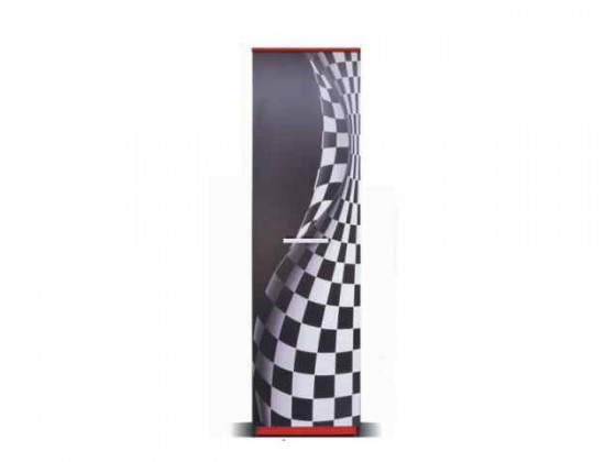 Dětská skříň F1 carbon - Skříň (F1 carbon, 1x dveře)