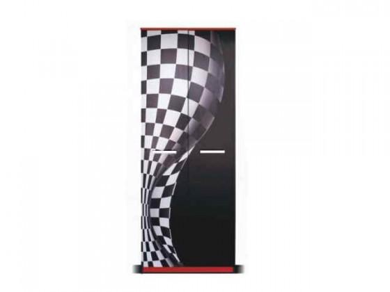 Dětská skříň F1 carbon - Skříň (F1 carbon, 2x dveře)