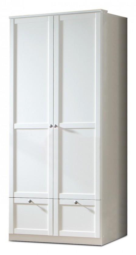 Dětská skříň Filou - Skříň dvoudveřová se zásuvkou (alpská bílá)