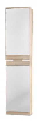 Dětská skříň Game - Skříň, 1 dveřová (bílá, dub)