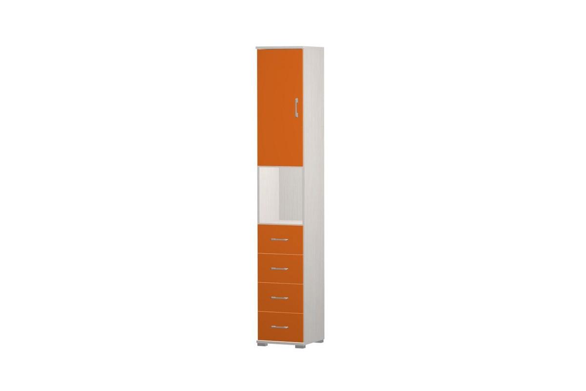 Dětská skříň Happy Typ 09+typ 50+2x typ 60 (woodline creme/tmavě oranžová)