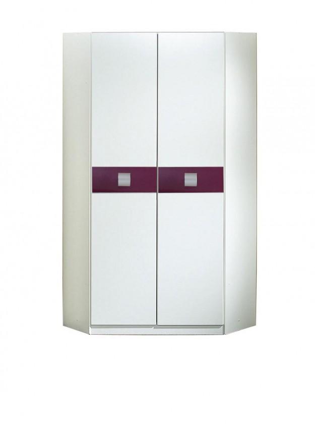 Dětská skříň Jette - 366511 (alpská bílá / ostružina)