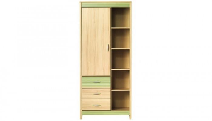 Dětská skříň Monza - skříň, CD8 (višeň cornvall, zelená)