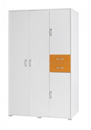 Dětská skříň Nemo 1 (bílá/oranžová)