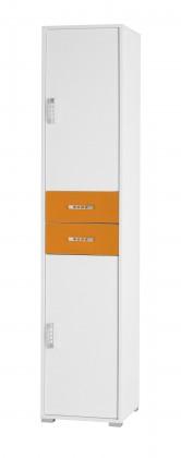 Dětská skříň Nemo 3 (bílá/oranžová)