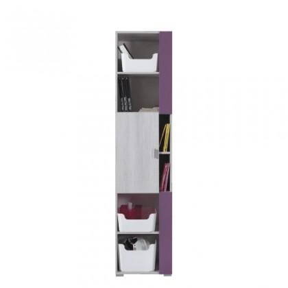 Dětská skříň NEXT NX 6 (borovice/fialová)