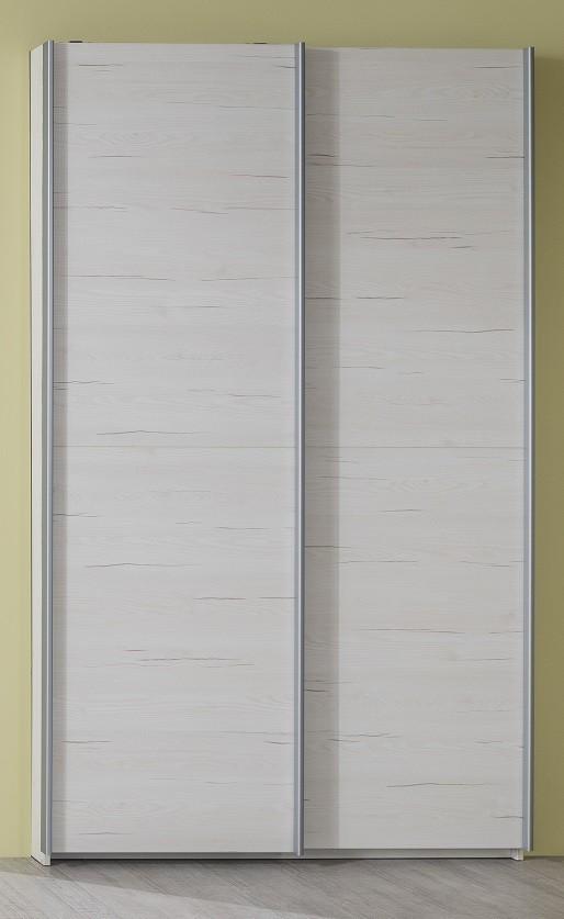 Dětská skříň Pine Aurélio - Skříň typ 90, posuvné dveře (bílá)