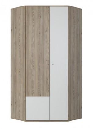 Dětská skříň SAJMON SJ 1 (modřín/bílá lesk)