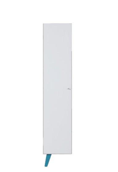 Dětská skříň SAJMON SJ 10 L/P (modřín/bílá lesk/tyrkysová)