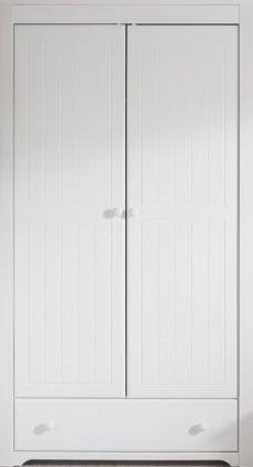 Dětská skříň Santorini - Šatní skříň se zásuvkou, typ 26 (bílá arctic)