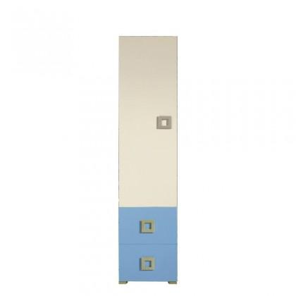 Dětská skříň Skříň LABYRINT LA 3 L/P (krémová/modrá)