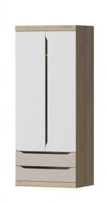 Dětská skříň Smart - Skříň, 80cm (buk ibsen, bílá, champagne)