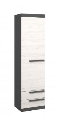 Dětská skříň Trend - Skříňka (grafit, borovice andersen)