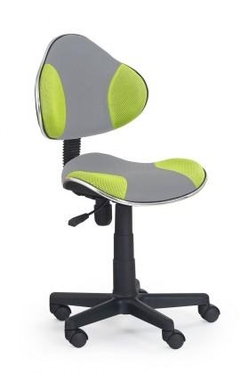 Dětská židle, křeslo Flash 2- dětská židle (šedo-zelená)