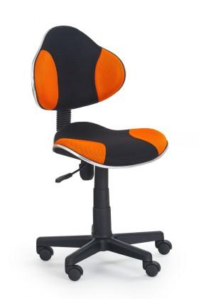 Dětská židle, křeslo Flash - dětská židle (oranžovo-černá)