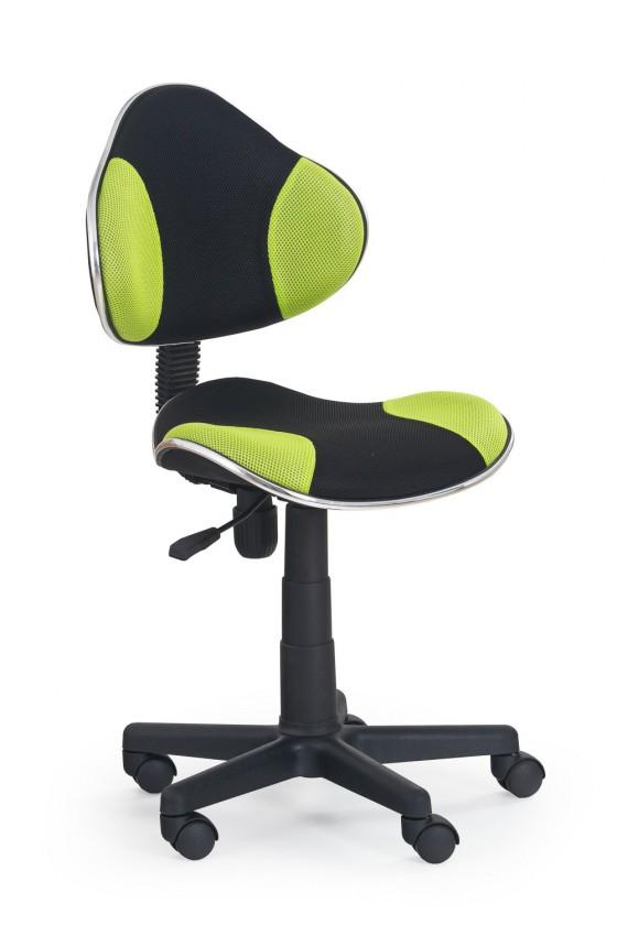 Dětská židle, křeslo Flash - dětská židle (zeleno-černá)