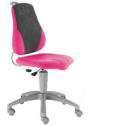 Dětská židle, křeslo Neon (šedá/růžová)