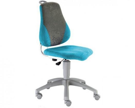 Dětská židle, křeslo Neon V-line (šedá/světle modrá)