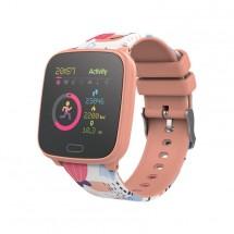 Dětské chytré hodinky Forever IGO JW-100, IP68, broskvová