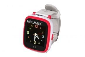 Dětské chytré hodinky Helmer KW 802, SIM karta, červeno-bílá