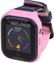 Dětské chytré hodinky Helmer LK 709 s GPS lokátorem, růžová