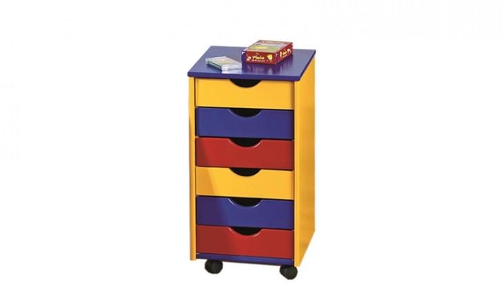 Dětský kontejner Ronny (modrá, červená, žlutá)