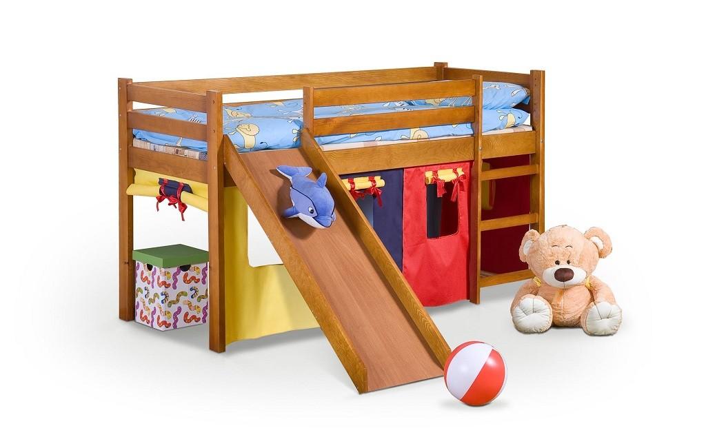 Dětský nábytek Dětská postel Nava zvýšená (borovice)