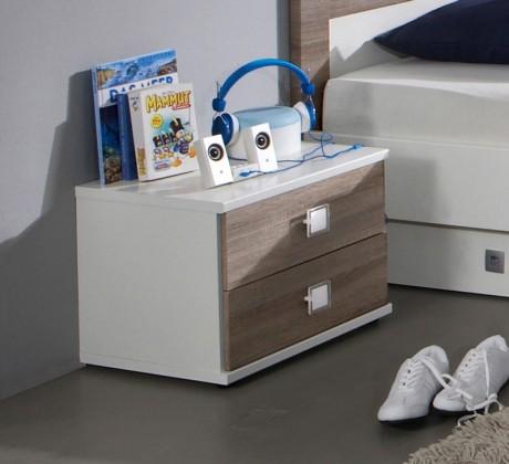 Dětský noční stolek Kira-324697(alpská bílá / dub montana)