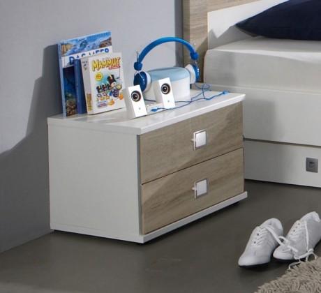 Dětský noční stolek Kira-325697(alpská bílá / dub pílený)