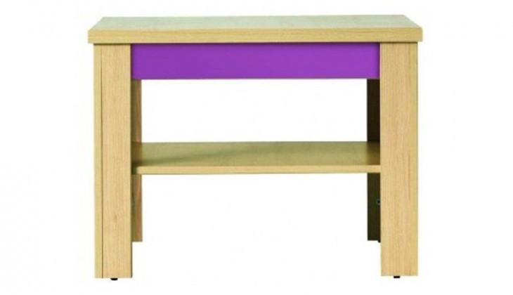 Dětský noční stolek Monza - stolek, CD1 (višeň cornvall, fialová)
