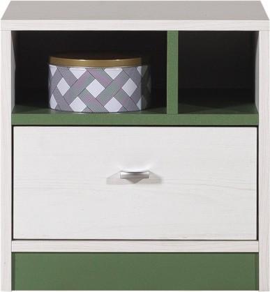 Dětský noční stolek Stone - Noční stolek ST13 (bílá, zelená)
