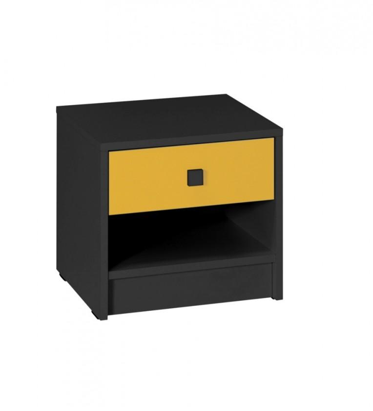 Dětský noční stolek Tommy 21 (šedá/žlutá)