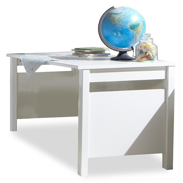 Dětský pracovní stůl Bibi - Pracovní stůl (alpská bílá, oranžová)