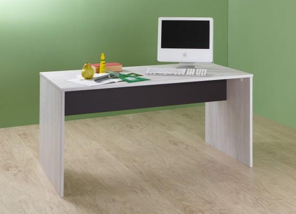 Dětský pracovní stůl Cariba - Pracovní stůl (bílá dub, černá láva)