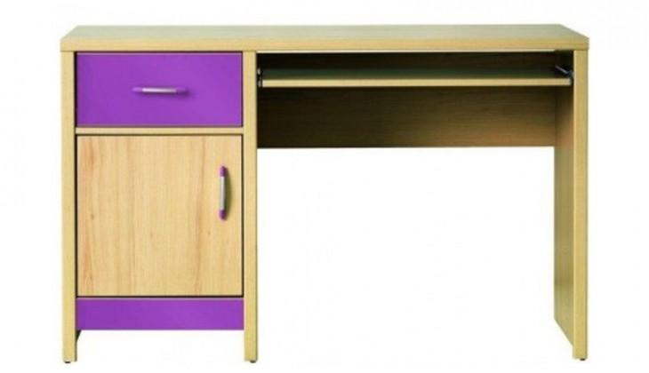 Dětský pracovní stůl Codi CD 11 (višeň cornvall/fialová)