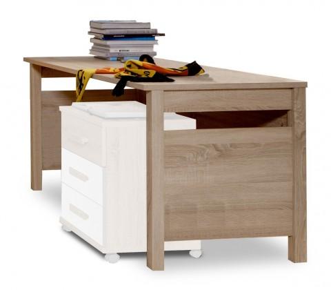 Dětský pracovní stůl Game - Pracovní stůl (bílá, dub)