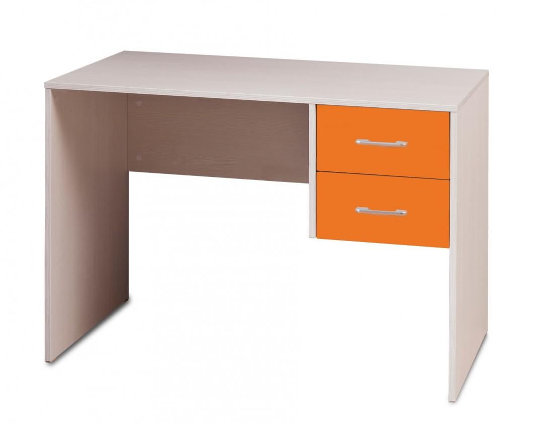 Dětský pracovní stůl Happy Typ 31 (woodline creme/tmavě oranžová )