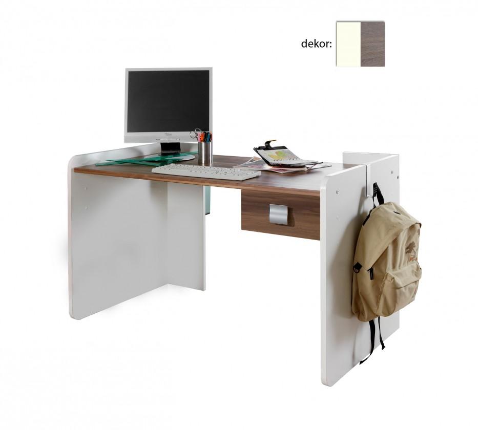 Dětský pracovní stůl Jette - 360303 (alpská bílá / dub montana)