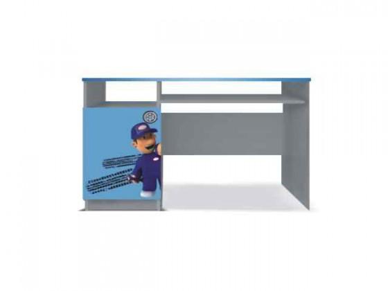 Dětský pracovní stůl Junior mechanik - PC stůl (šedá/modrá)