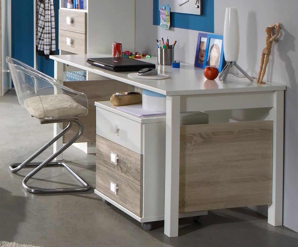 Dětský pracovní stůl Kira-325416(alpská bílá / dub pílený)