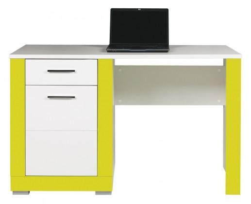 Dětský pracovní stůl Lightning - Psací stůl (bílá, akvamarín)