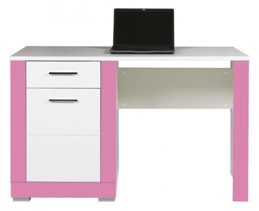 Dětský pracovní stůl Lightning - Psací stůl (bílá, růžová)