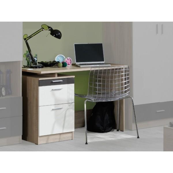 Dětský pracovní stůl Oskar 4(dub sonoma/krémová/šedá)