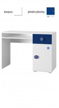 Dětský pracovní stůl Simba 12(korpus bílá/front bílá a modrá)