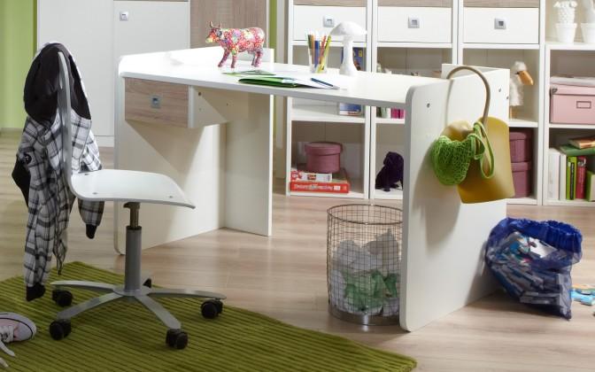 Dětský pracovní stůl Sunny - Pracovní stůl (dub, alpská bílá)