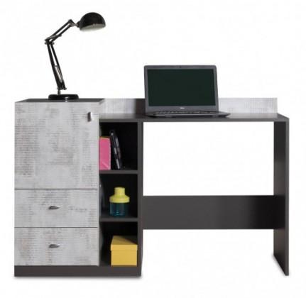 Dětský pracovní stůl Tablo - psací stůl, 1x dveře, 2x zásuvka (grafit/enigma)