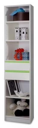 Dětský regál Bibi - Regál (alpská bílá, zelené jablko)