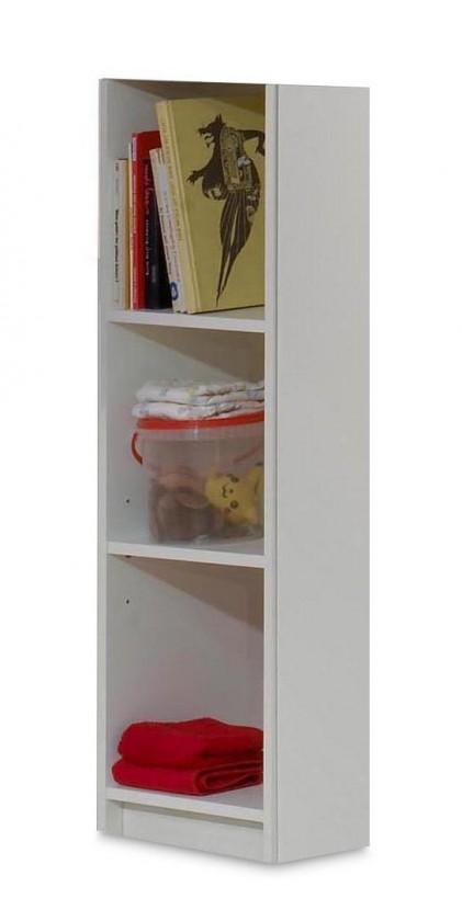 Dětský regál Jette - Regál k přebalovací skříňce (bílá, kolumbijský ořech)